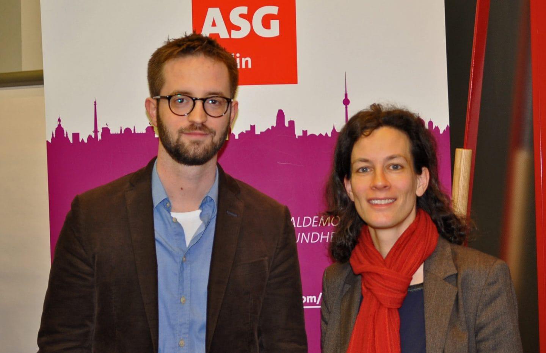 Silvia Klein und Leif Warming vom Institut für Qualitätssicherung und Transparenz im Gesundheitswesen (IQTIG)
