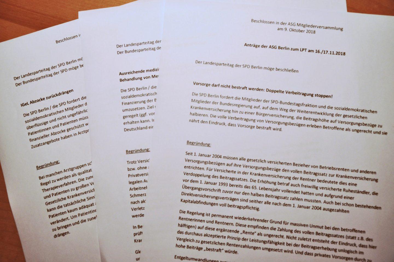 Landesparteitagsanträge der AGS
