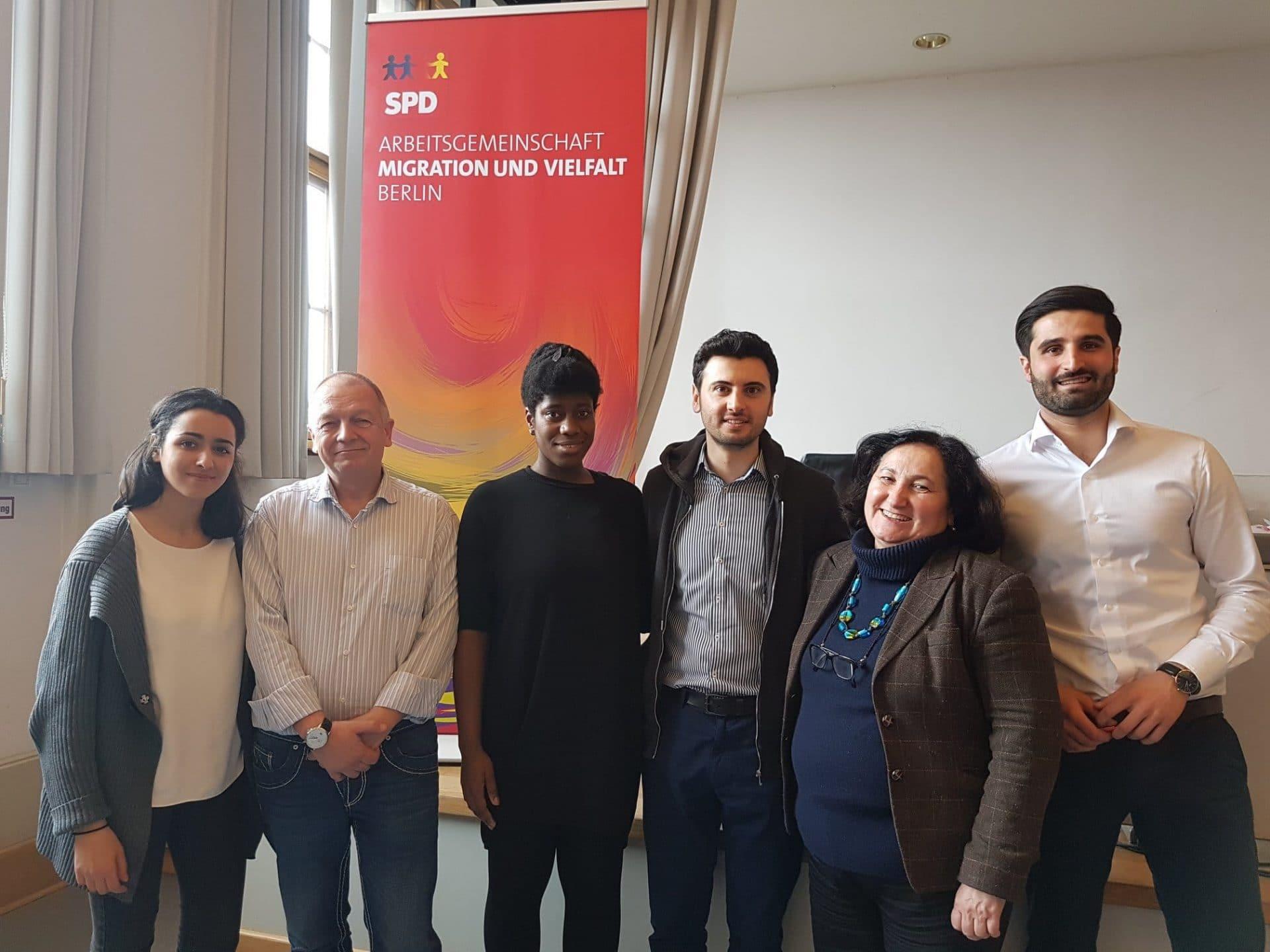 Vorstand der AG Migration und Vielfalt Berlin