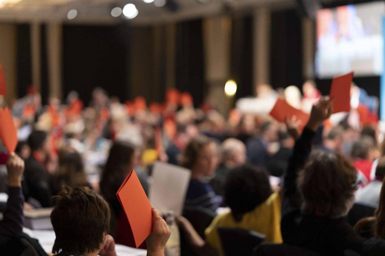 Abstimmung auf dem SPD-Landesparteitag