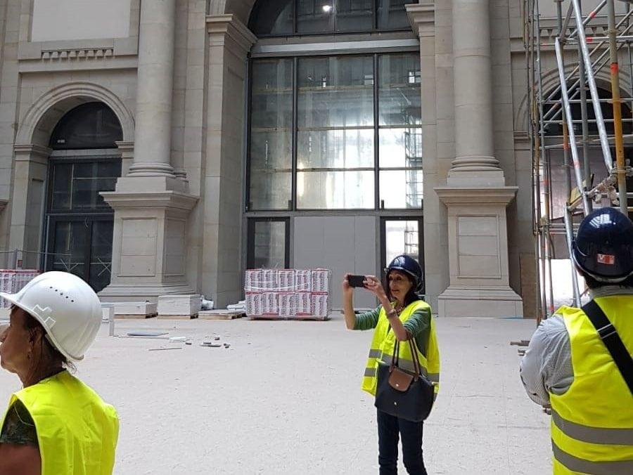 Der Fachausschuss besichtigt die Baustelle des Humboldt-Forums