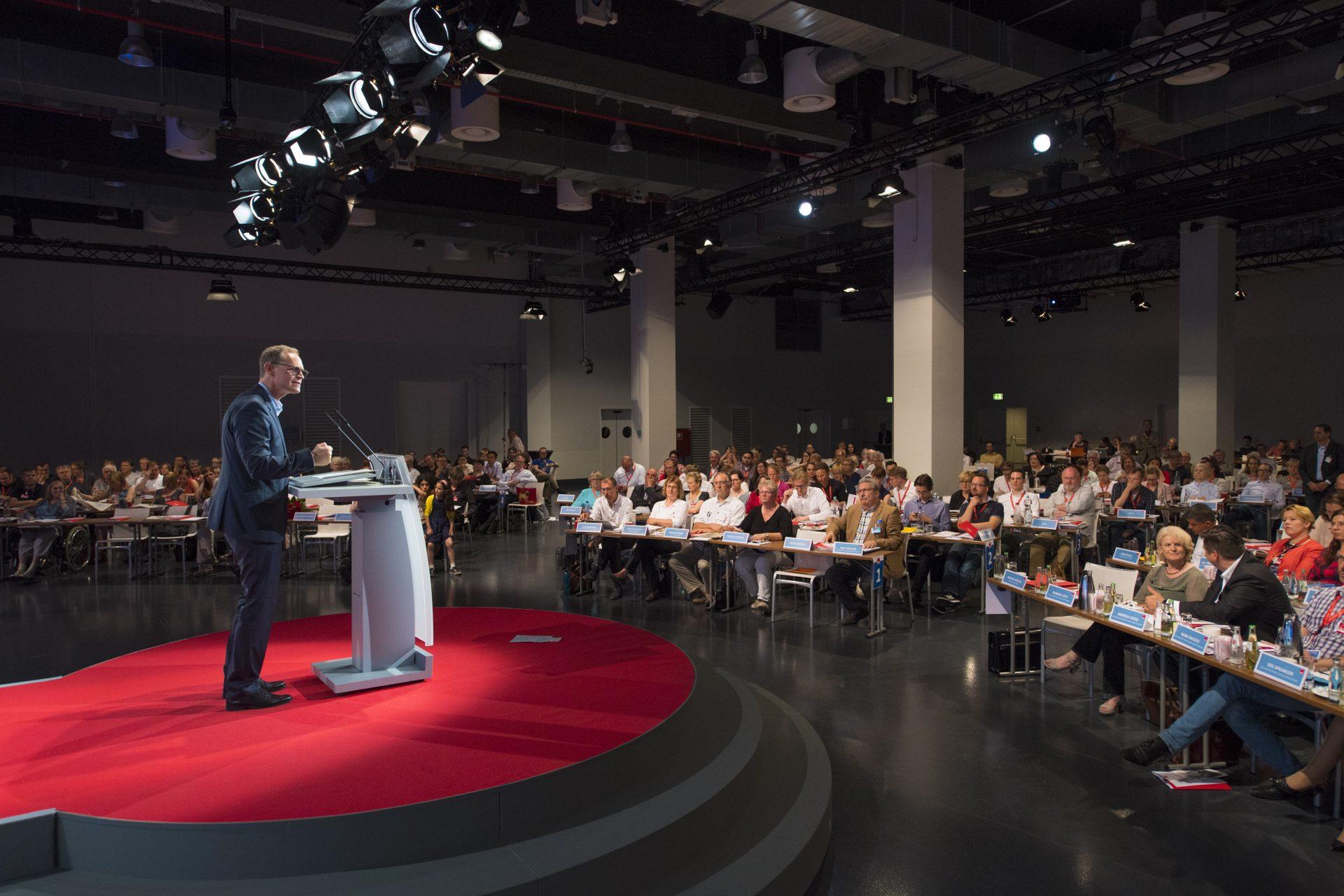 Michael Müller spricht auf Landesparteitag