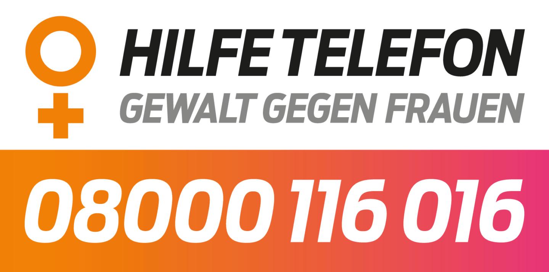 Hilfetelefon Gewalt gegen Frauen: 0800-116016