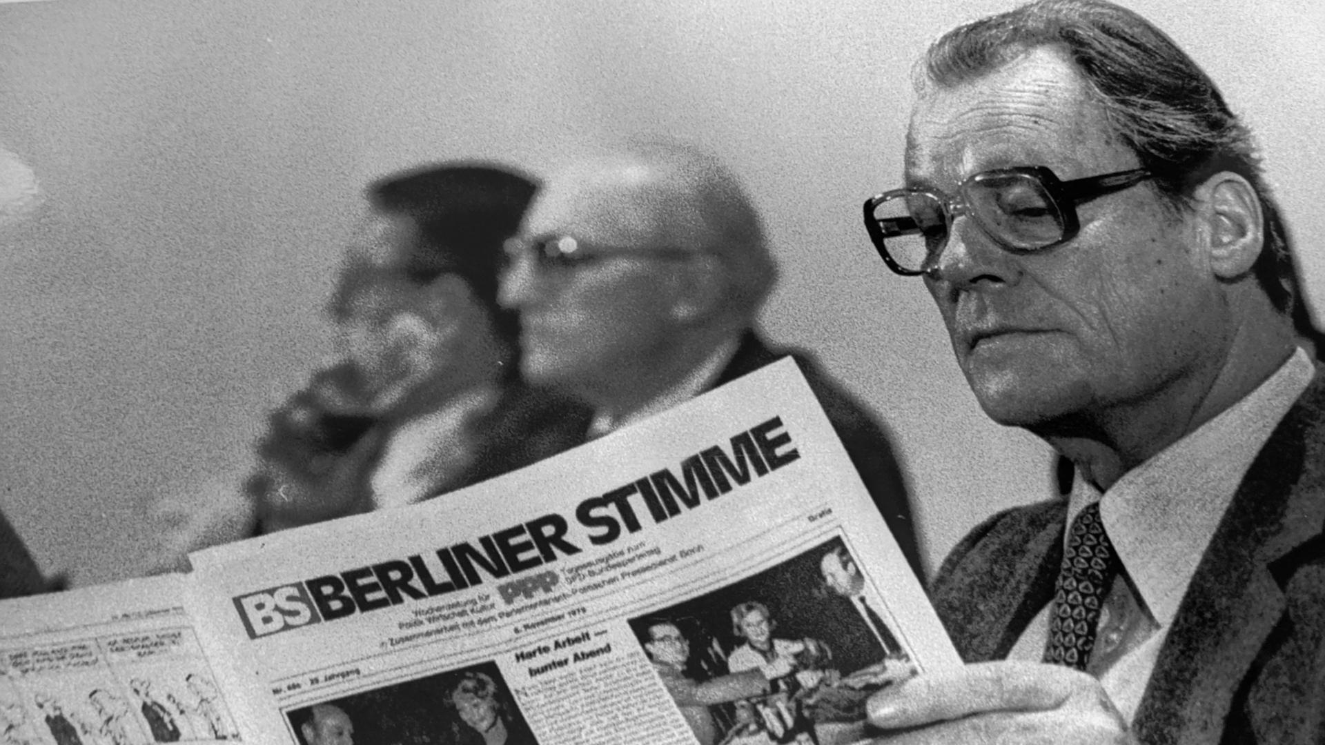 Willy Brandt liest die Berliner Stimme