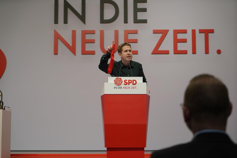Kevin Kühnert auf dem Bundesparteitag
