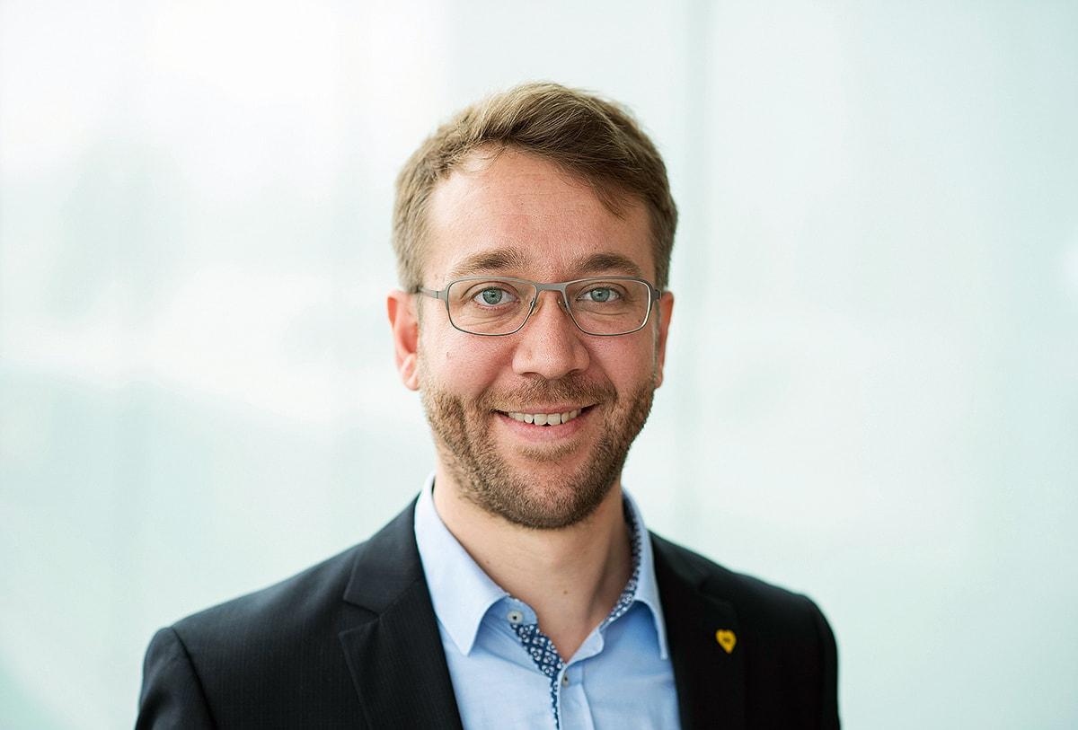 BVG-Pressesprecher Jannes Schwentu