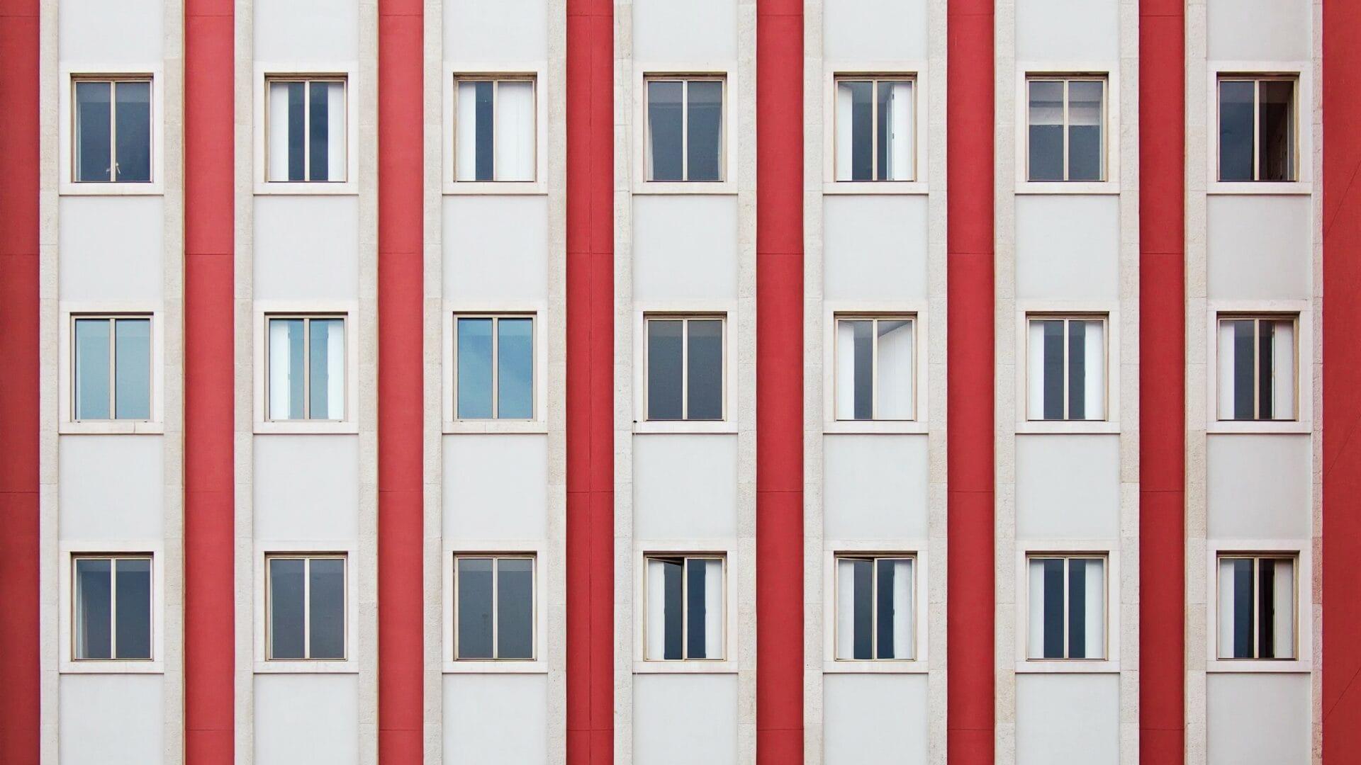 Fassade eines Wohnhauses
