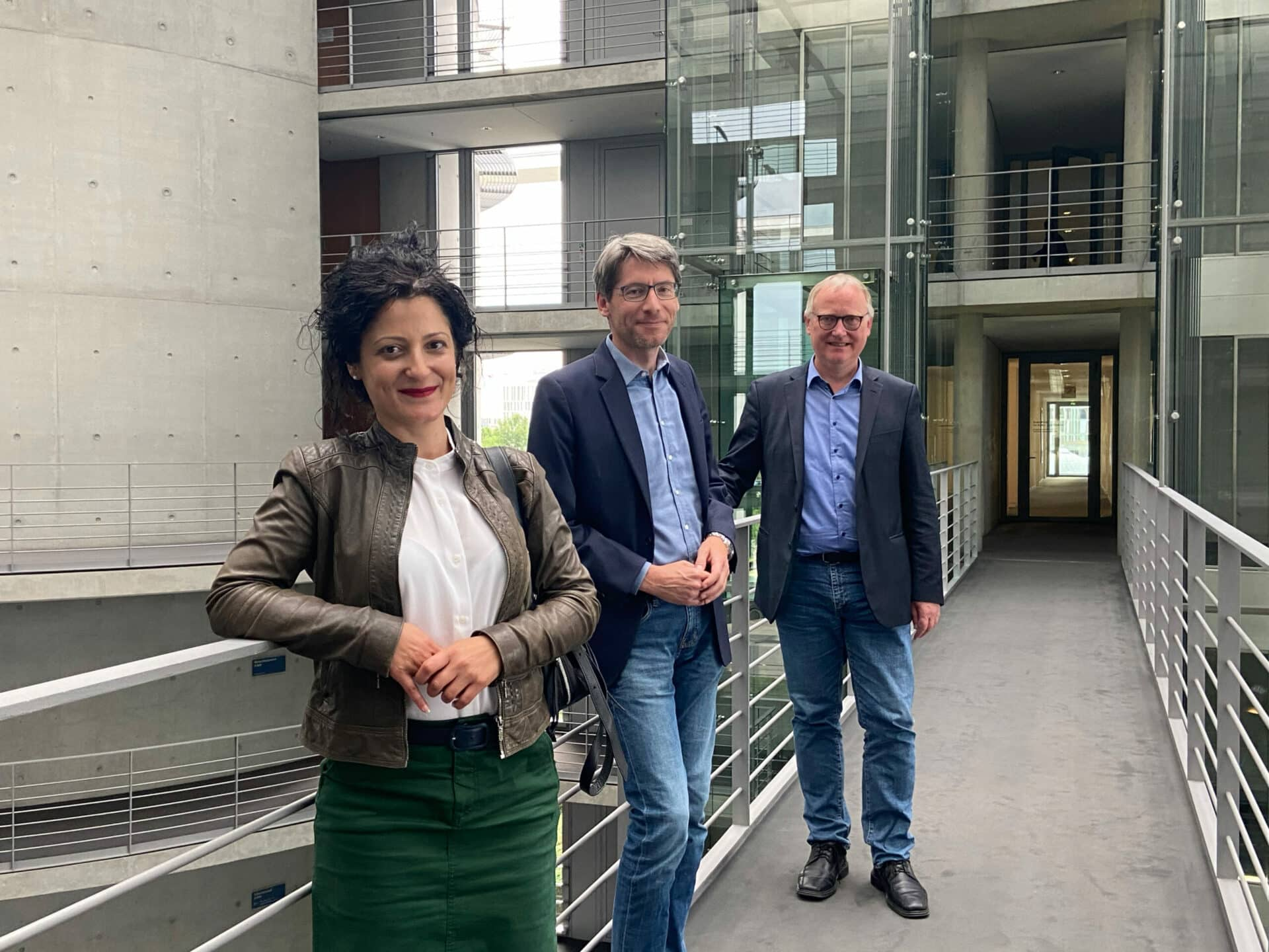 Cansel Kiziltepe (v. l. n. r.), Swen Schulz & Klaus Mindrup