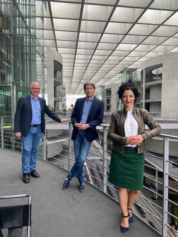 Klaus Mindrup (v. l. n. r.), Swen Schulz und Cansel Kiziltepe