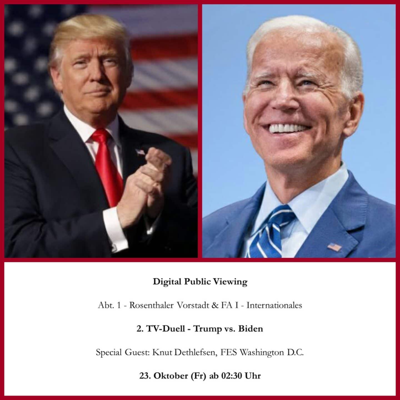 Digital Public Viewing - Trump vs. Biden - FA I & Abt. 1 1