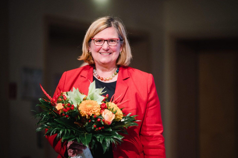 Verabschiedung Angelika Schöttler beim hybriden Landesparteitag der SPD Berlin
