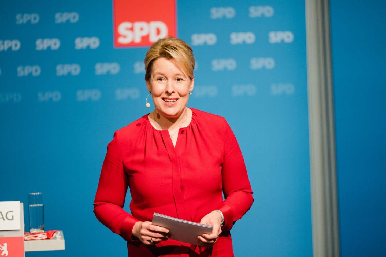 Franziska Giffey ist die Spitzenkandidatin der Berliner SPD
