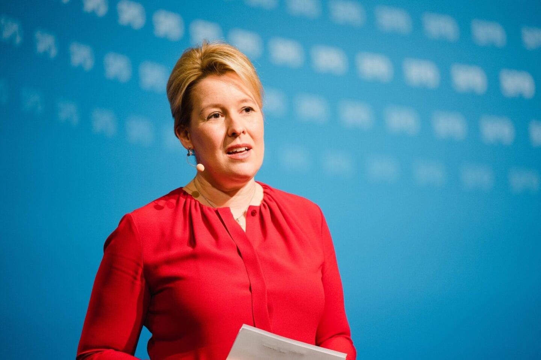Franziska Giffey kandidiert beim hybriden Landesparteitag der SPD Berlin