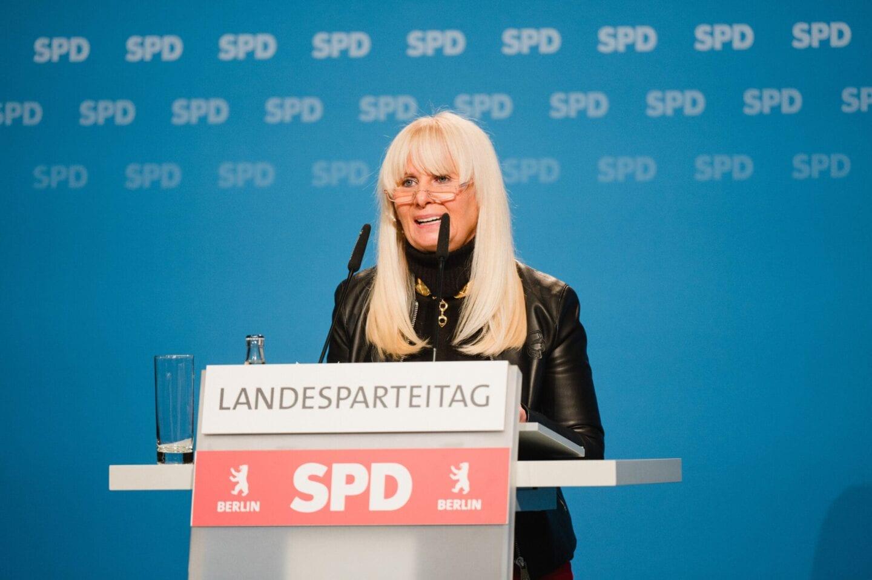 Iris Spranger kandidiert beim hybriden Landesparteitag der SPD Berlin