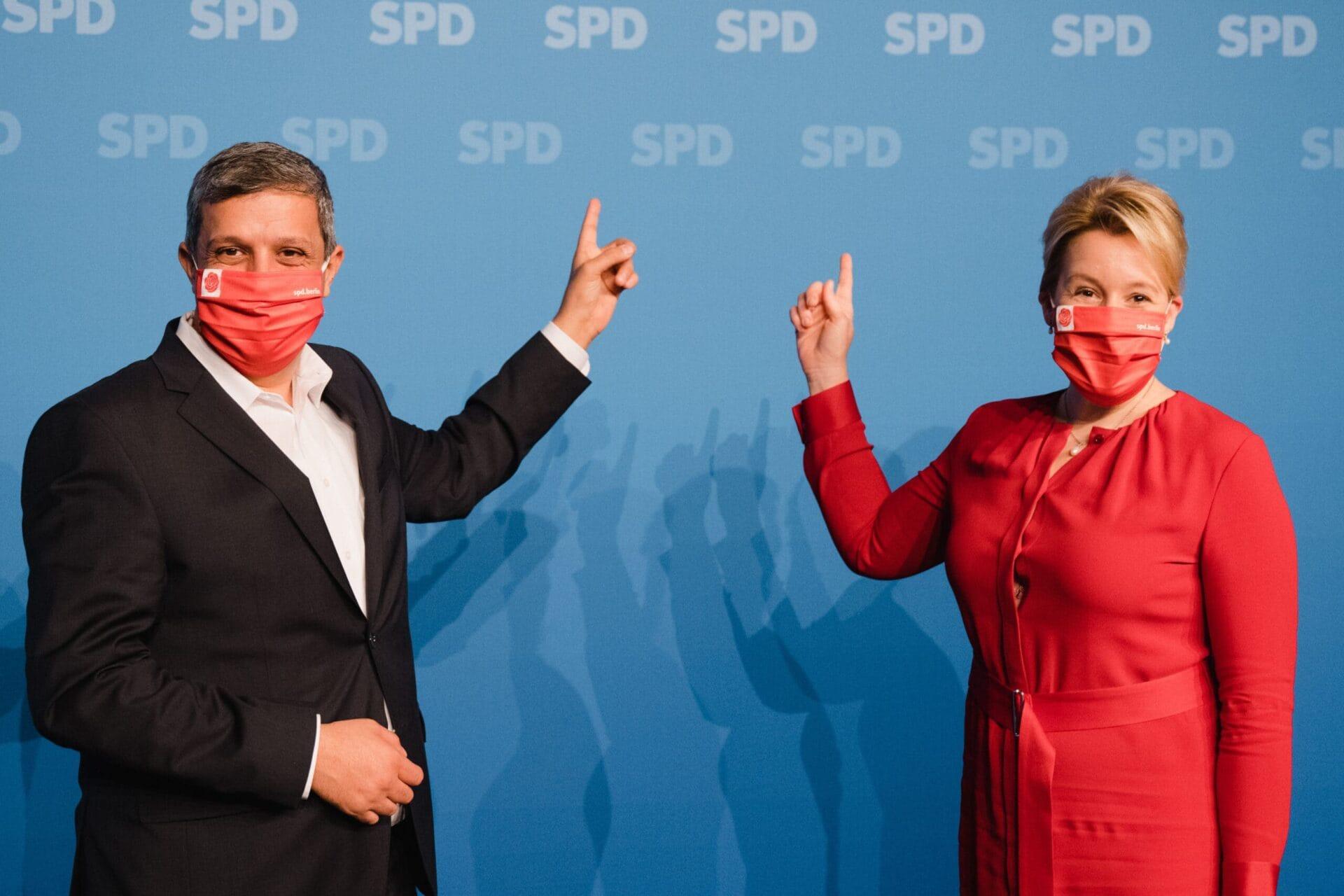 Raed Saleh (l.) und Franziska Giffey