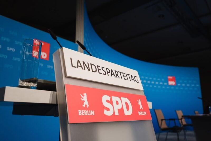 Hybrider Landesparteitag der SPD Berlin