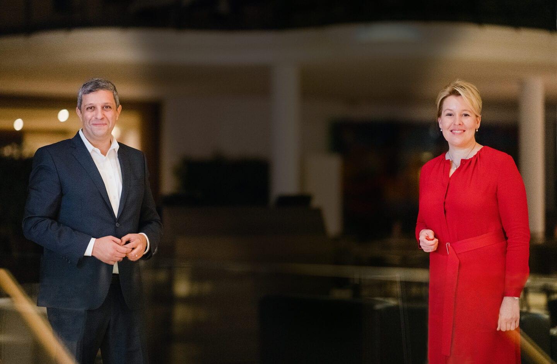 Raed Saleh und Franziska Giffey, die Landesvorsitzenden der SPD Berlin