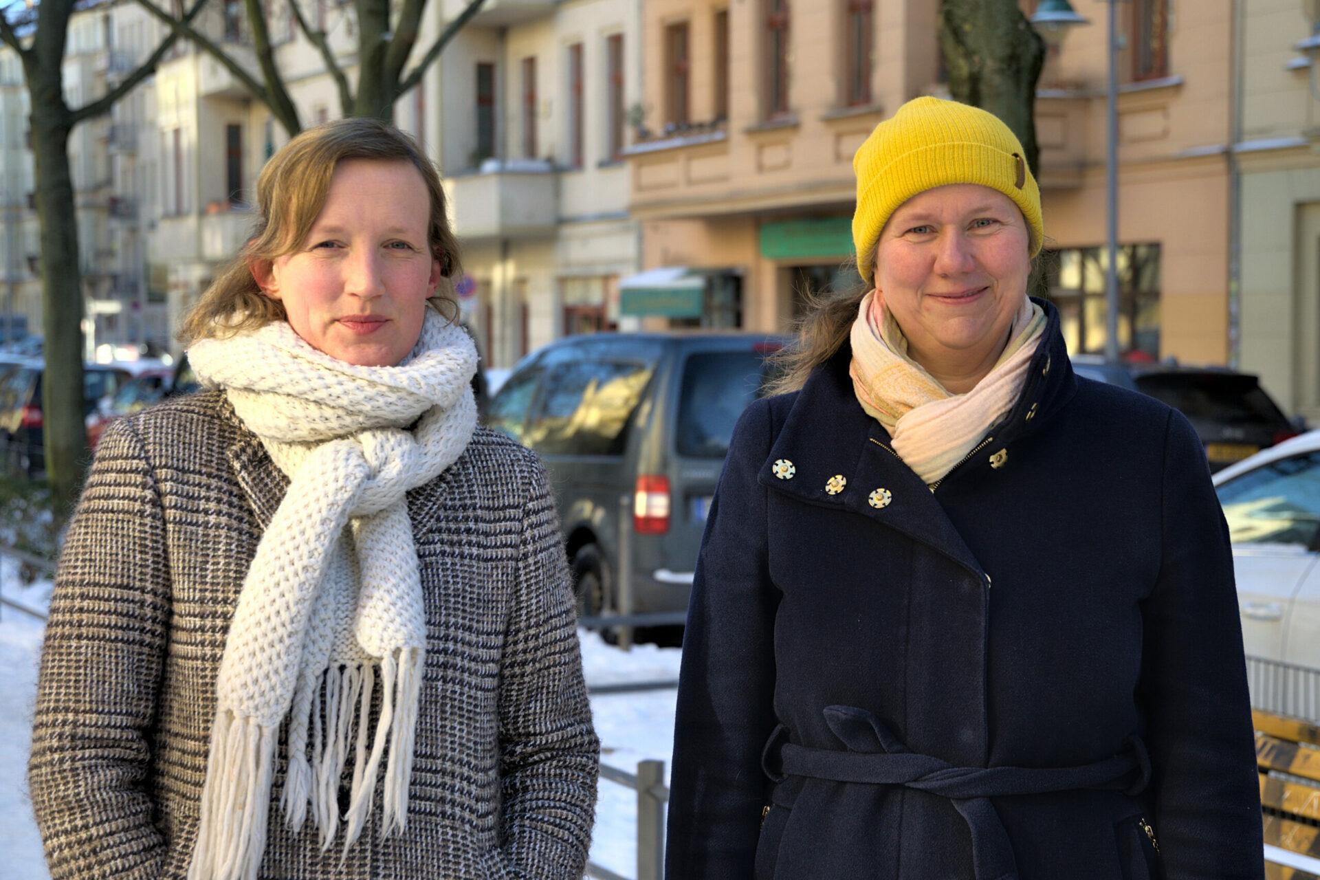 Regine Laroche (l.) und Tessa Mollenhauer-Koch