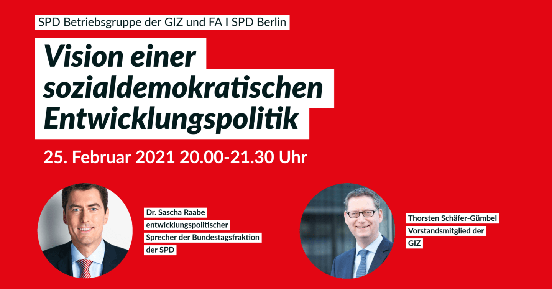 """Veranstaltung zum Thema """"Vision einer sozialdemokratischen Entwicklungspolitik"""" des FA I 1"""