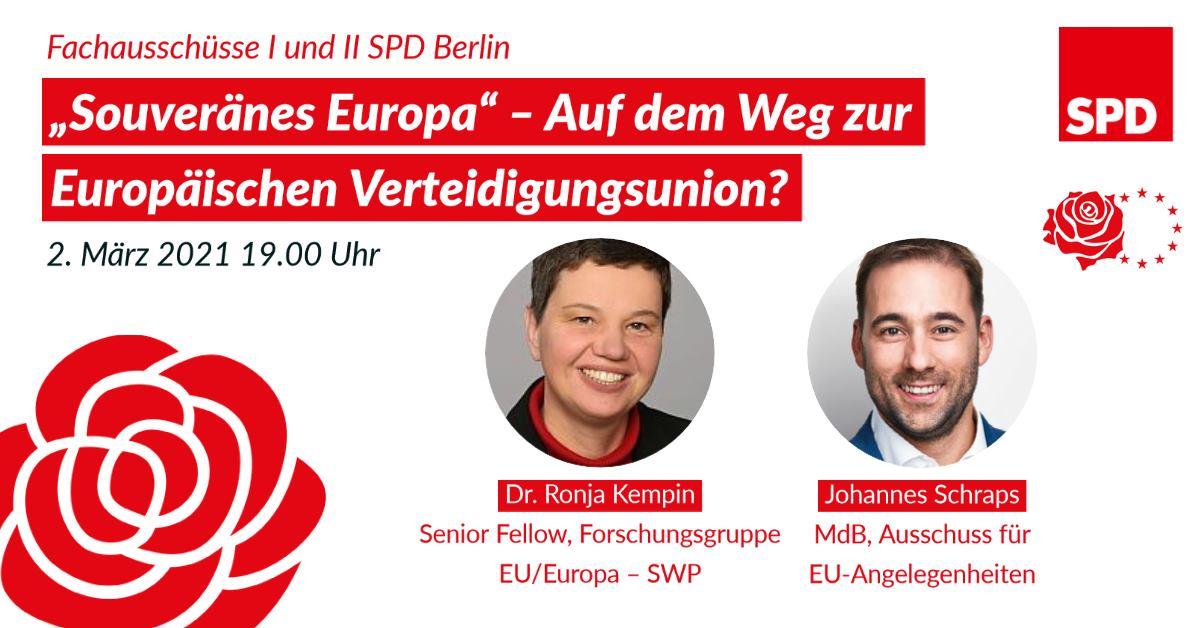 Podiumsdiskussion zum Thema Souveränes Europa des FA I & FA II 1