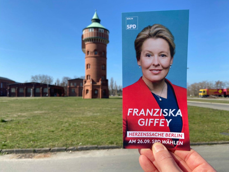 Flyer SPD-Spitzenkandidatin Franziska Giffey