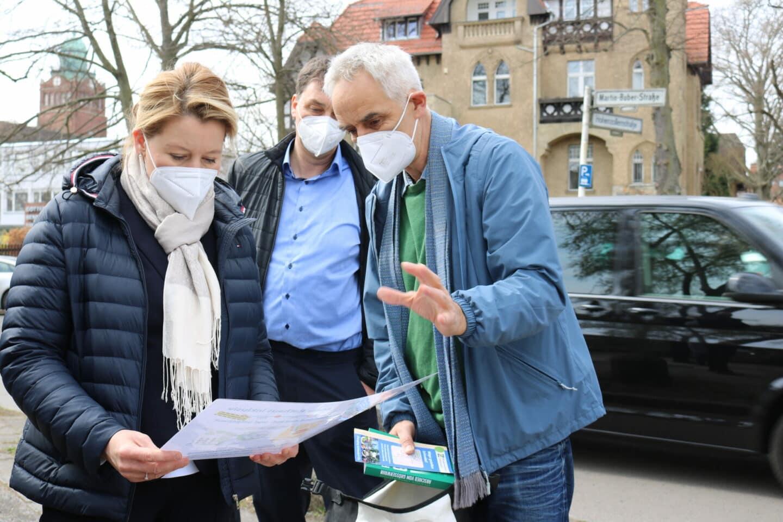Franziska Giffey mit Bürgerinitiative Zehlendorf Mitte
