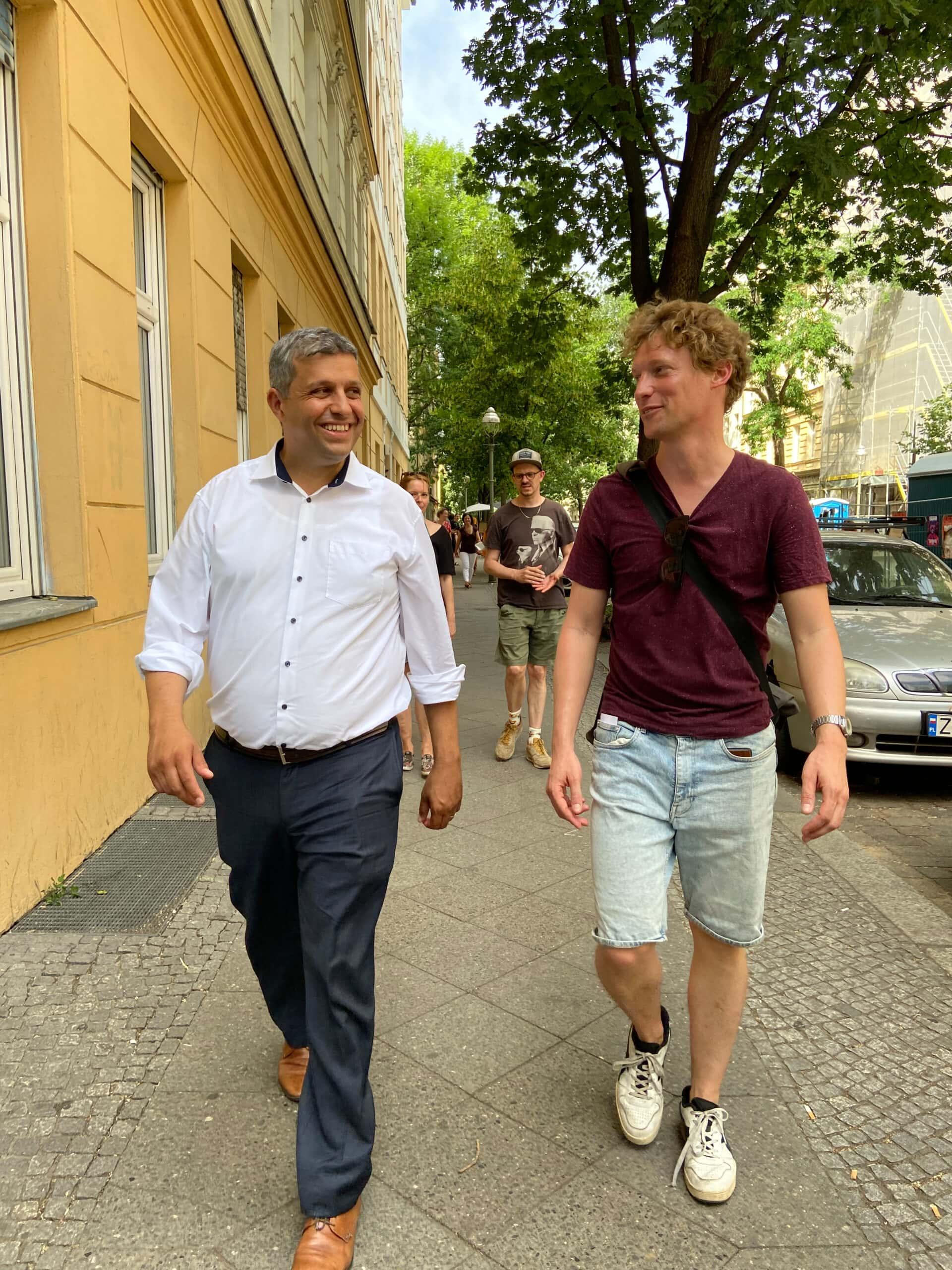 Raed Saleh (l.) & Niklas Kossow