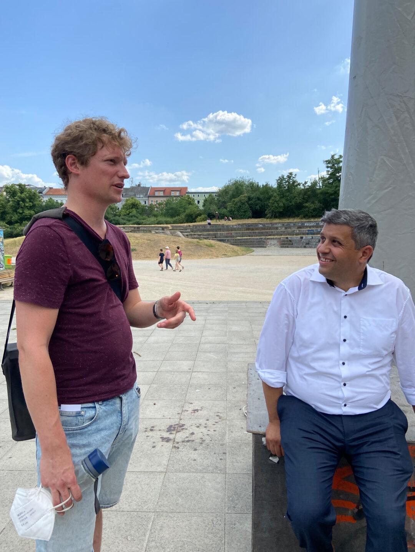 Niklas Kossow (l.) & Raed Saleh