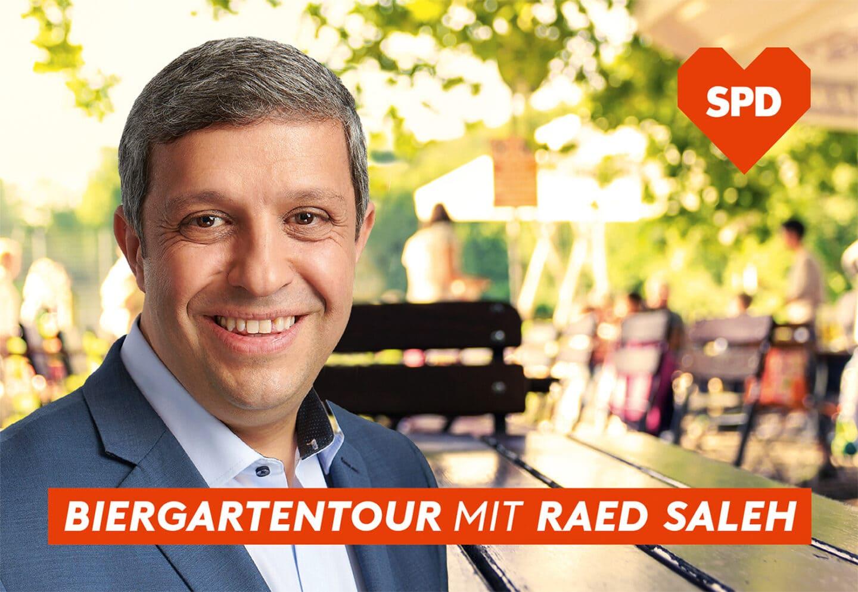 Biergartentour mit Raed Saleh in Charlottenburg 1
