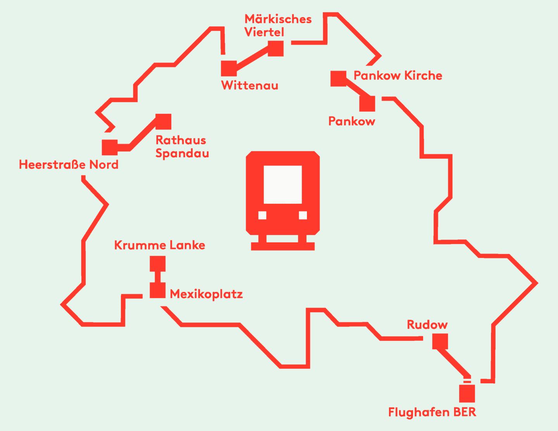 geplante U-Bahnverlängerungen