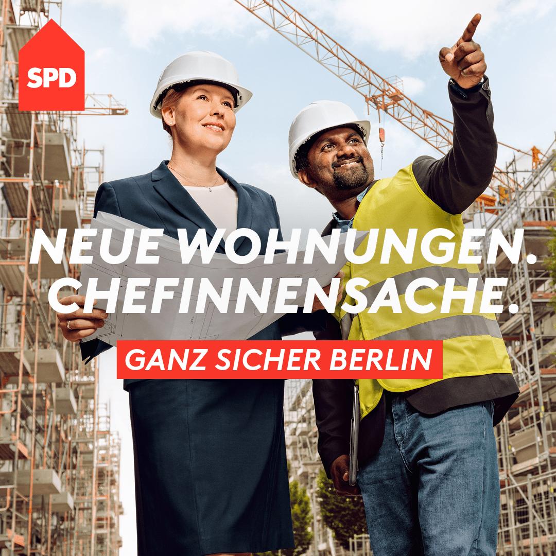 Neue Wohnungen. Chefinnensache. Ganz sicher Berlin
