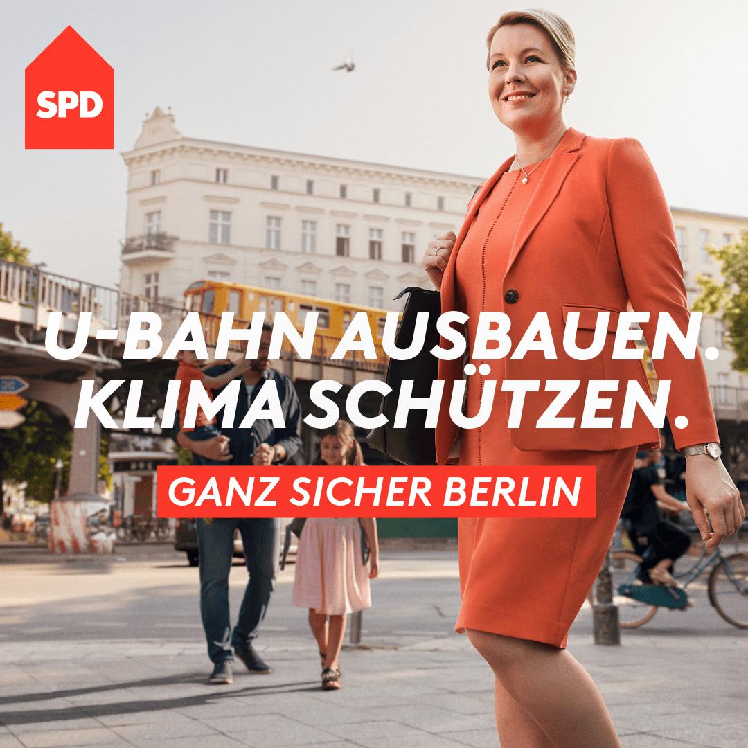 U-Bahn ausbauen. Klima schützen. Ganz sicher Berlin