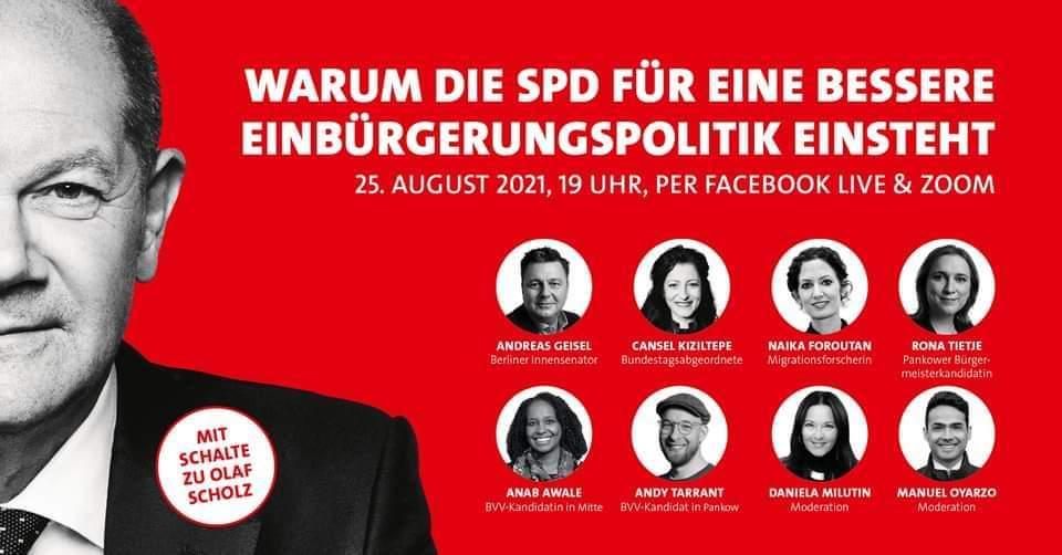 Digitale Live-Veranstaltung der AG Migration und Vielfalt Pankow zum Thema Einbürgerungen 1