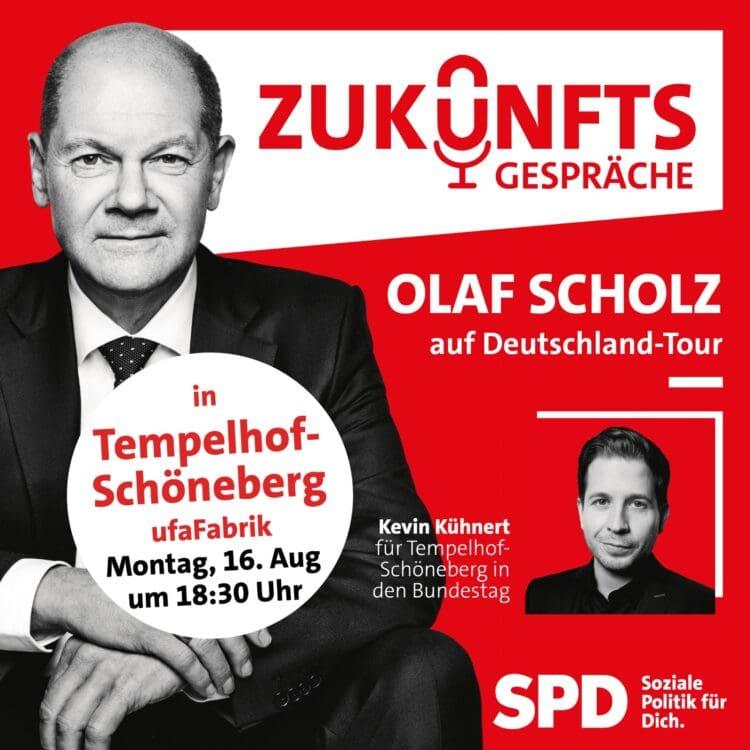 Zukunftsgespräch mit Olaf Scholz und Kevin Kühnert