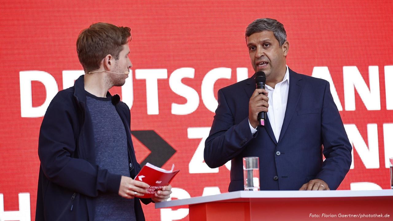 Kevin Kühnert und Raed Saleh